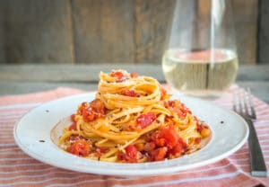 pasta al amatriciana at tasteoftheplace_com