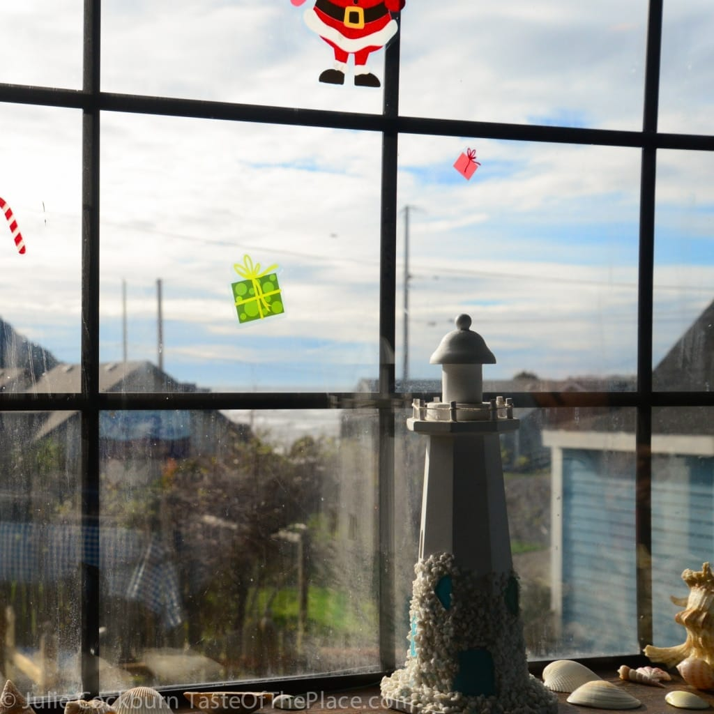 The view of the ocean from the Luna Sea's weathered windows. Love it!