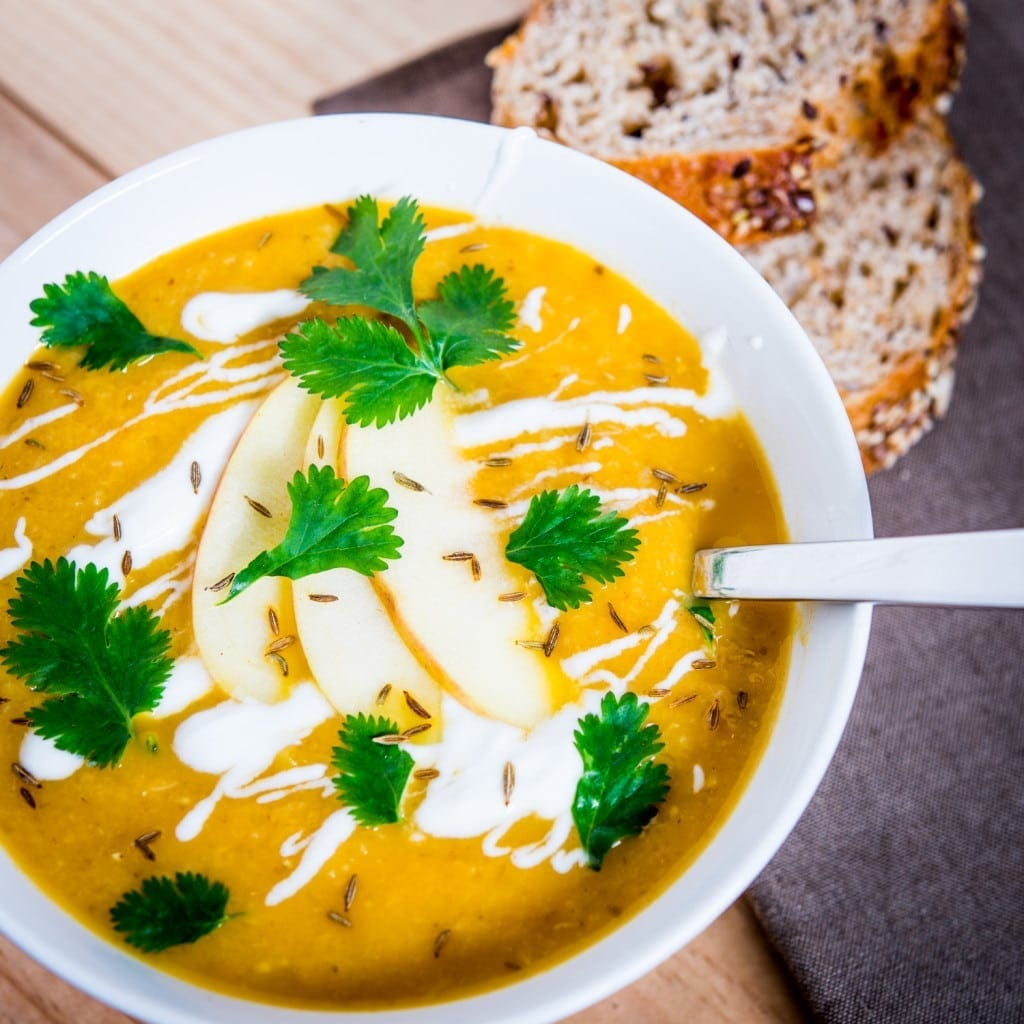 German apple and parsnip soup