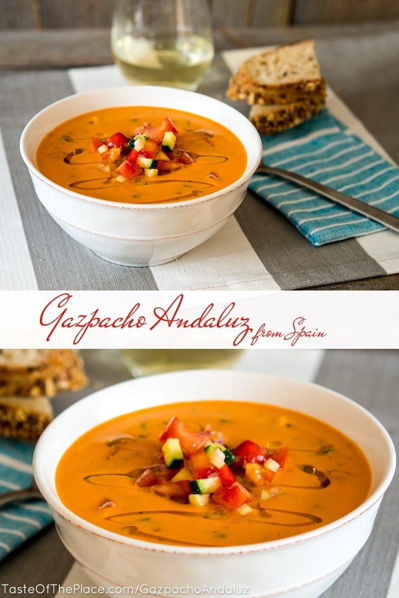Gazpacho Andaluz at TasteOfThePlace.com