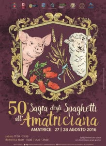 This would have been the 50th Sagra degli Spaghetti alla Amatriciana in the town of Amatrice.