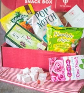 One of the monthly Try The World Snack Box selections.