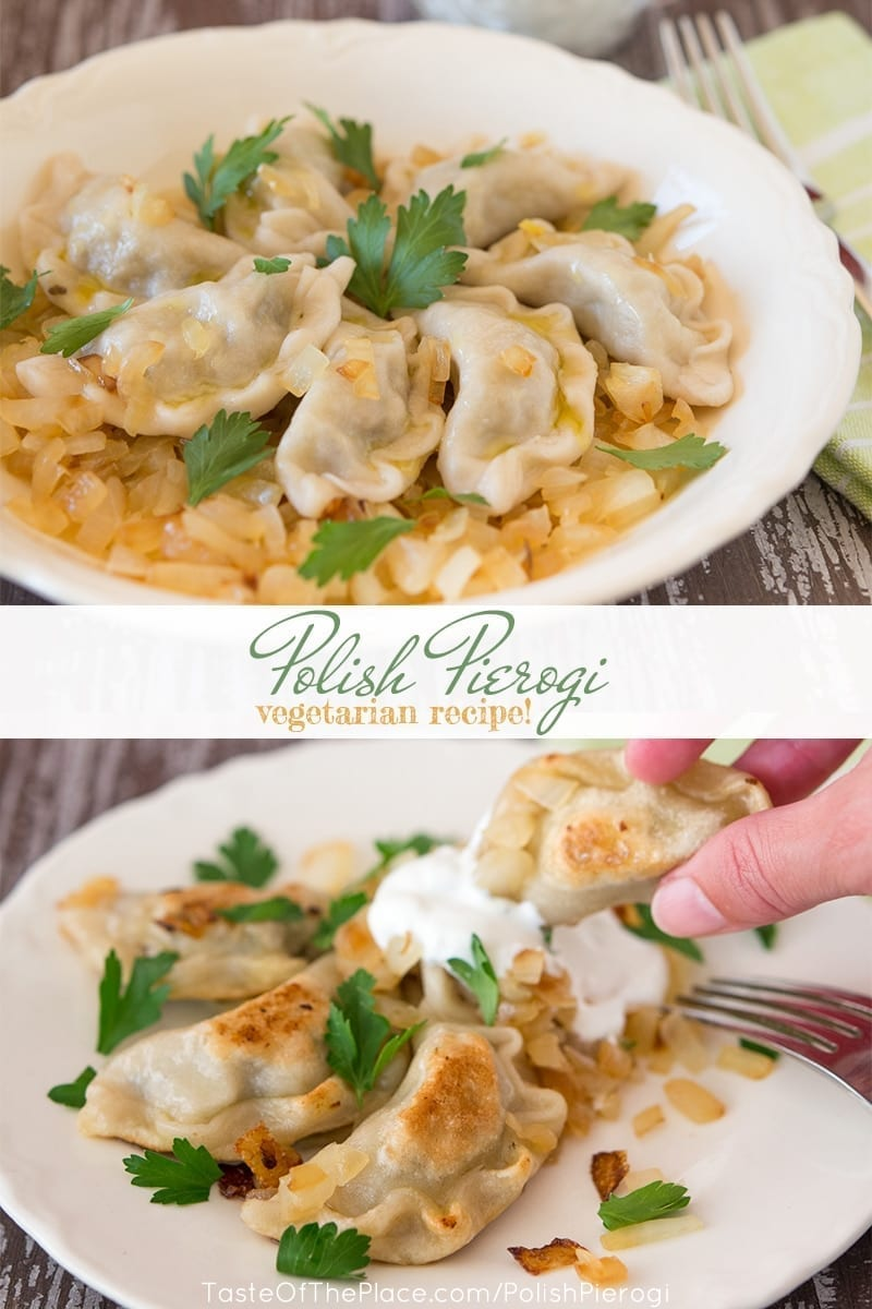 Polish Pierogi at TasteOfThePlace.com vegetarian recipe