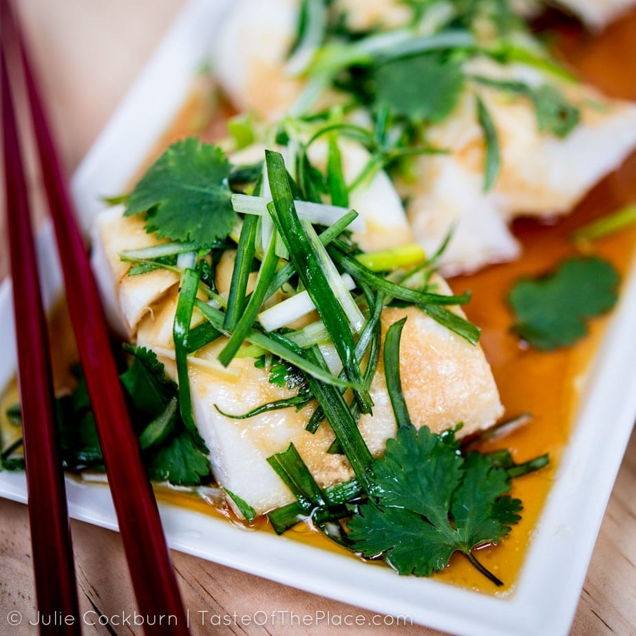 Cantonese Steamed Fish from the Taste Of The Place cookbook at TasteOfThePlace.com