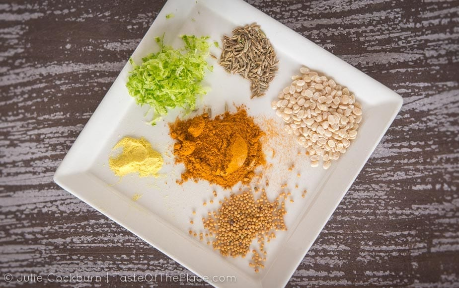 Spices for the Potato Masala or Aloo Masala at TasteOfThePlace.com