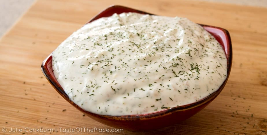Yogurt Sauce for Afghan Bolani at TasteOfThePlace.com