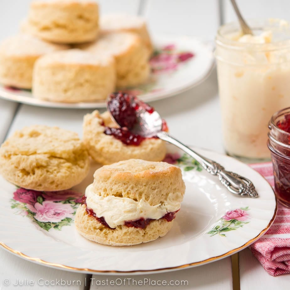 Fresh British Scones For Cream Tea
