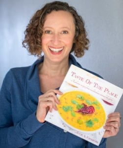 Julie Cockburn with Taste Of The Place cookbook