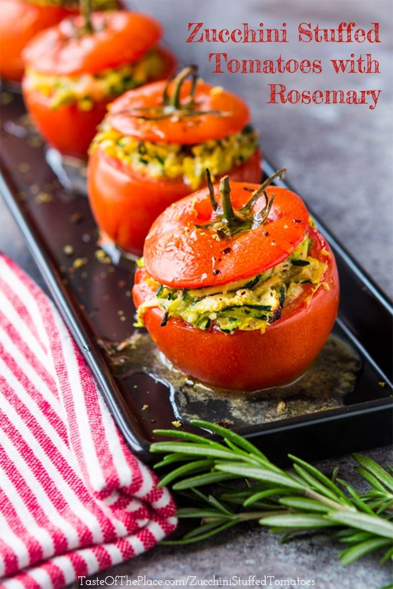 Zucchini stuffed tomatoes with rosemary from Italy at TasteOfThePlace.com