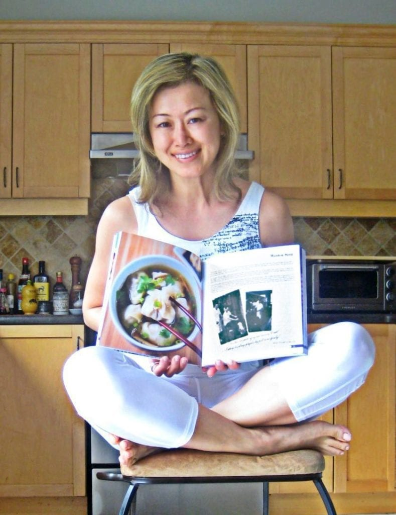 Susan Ng with her chapter in the Taste Of The Place cookbook